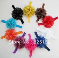 Free Shipping Fashion 10pcs Bulk Multi Colors Flower Kids Infant Newborn Baby Girls Headband Hair Band Bow Headwear Accessories