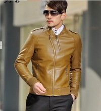 popular fashion leather jackets men