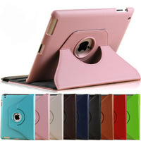 Magnetic Smart Cover Embossed leather Case for ipad air New Ipad5 with 360 Degrees Rotating Stand Wholesale Free Shipping