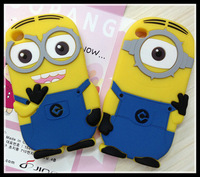 Free Shipping New arrival soft rubber Despicable Me minions case for iphone 4 4s cell phone cases covers to iphone4