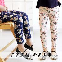 2014 New Children/Kid/ Girl Spring Autumn Print Skinny Legging Pants 1633 1640 child legging,1 lot=5sizes each color