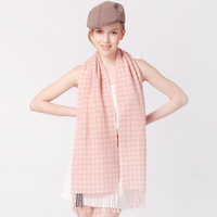 Rglt soft comfortable all-match high quality pure wool tassel women's ultra long scarf