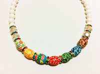 2014 Fashion  Necklace Polymer clay Shourouk Chain Chunky Choker Statement Necklace & Pendant Fashion  Flower Necklace Women