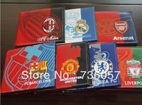 New! Free shipping football fan colour pu leather wallet/purse with those big european clubs'  team logo,football fan souvenirs