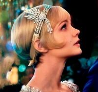 2014 The Great Gatsby Rhinestone Pearl Hair Accessories Bridal Tassel Tiara Crown Wedding Jewelry Pageant Crowns Tiaras WIGO0225