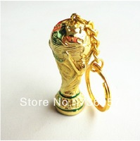 New ariival!Free shipping football fan stainless steel key chain/key ring with world cup trophy, football fan souvenirs