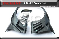 2008-2013 Nisan R35 GTR Varis Style Fiber Glass Wider Front Fenders with Carbon Fiber Fins