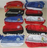 New! Free shipping football fan waterproof nylon soccer backpack/shoe bag/gym bag with big european clubs team logo fan souvenir