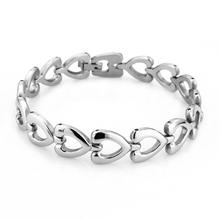 Fashion Stainless Steel Statement Heart Bracelets Bangles High Quality Goods Love Women Bracelet JewelOra BA100419
