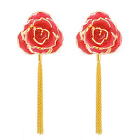 Wiener ell Aangstrom gold plated rose accessories flower stud earring fashion earring noble female