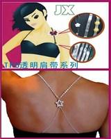 Quality fashion eco-friendly rhinestone shoulder strap five-pointed star cross shoulder strap metal shoulder strap