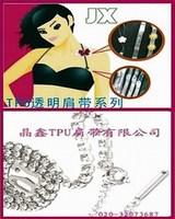 Quality fashion eco-friendly single row rhinestone shoulder strap metal shoulder strap crystal chromophous customize