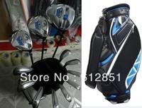 TM Golf Bag+SLDR Complete Set Driver 9.5/10.5loft Fairway Woods #3#5 Irons #456789PAS Steel Regular/Stiff Shaft Full Golf Clubs