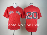 Best Quality Baseball Jersey #20 Kevin Youkilis Red Jerseys Embroidery Logos Jersey Cool Base