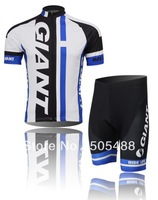2014! Free shipping+breathable+PAD COOLMAX+black-white GIANT apparel Cycling wear/bikes wear short sleeve jersey+shorts XS-4XL