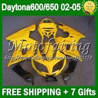 7gift For Triumph Daytona 650 ALL Yellow 02-05 2002 2003 2004 2005 5#98 Daytona 600 ALL Gloss yellow  650 02 03 04 05 Fairings