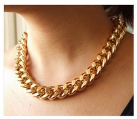 European and American punk exaggerated coarse metallic chain necklace necklace A3008 U.S. and Europe