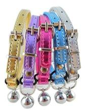 Pet Cat Collar New Designer Safety cat Collar Pink Gold Blue Purple Silver Leat