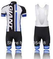 2014! Free shipping+Breathable+pad coolmax+black-white GIANT Bike apparel/Clothes bike Cycling wear/Cycling Jersey+BIB SHORTS