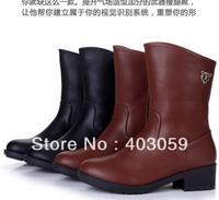 Genuine Leather New hot sale Fashion Women  zip Snow Boots Platform Pumps shoe