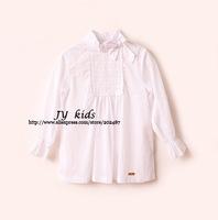 24M girl white blouse bowknot long sleeves girls blouses girl clothing