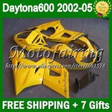 7 подарок для 02 03 04 05 триумф Daytona 600 02 — 05 все-желтый 24CL68 Triumph600 600 2002 2003 2004 2005 обтекатели нью-глянцевой желтый