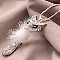 9.9 accessories all-match necklace fox long design christmas gift