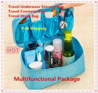 New 2015 High Quality Nylon oxford PortableTravel Versatile Bra Underwear Storage Bag Bras Organizer Bags Cosmetic bags 6 Colors