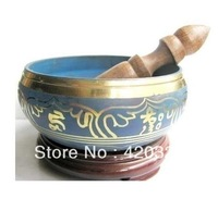 wholesale Tibetan Bronze Native copper Asian beautiful Tibetan Buddhism Cuprum Mantra Singing Bowl no box