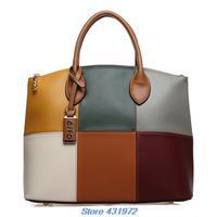 new women handbags brand 2014 OPPO Bag Women's Handbag Fashion Color Block Shell Handbag desigual women messenger bags hkpost