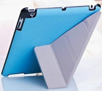 5 Shapes Stand Design Magnetic Leather Case for ipad4 3 2 Smart Cover  iPad4 Utrathin Fashion Style Blue Green