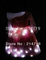 Child led lighting skirt stage costumes princess dress dance led dress