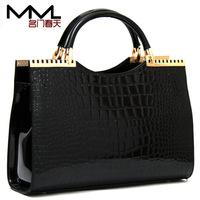 New women messenger bag crocodile handbag skin ladies tote bag vintage bags women fashion designer bag purse female totes