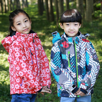 high quality child 2014 thickening wadded jacket ski jacket wool inner climbing jacket