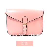 Free Shipping 2014 New Arrival Fashion PU Messenger Bag Candy-colored Bags Shoulder Bags