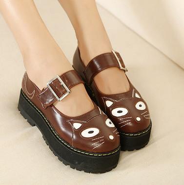 fashion s cat v creepers platform shoes