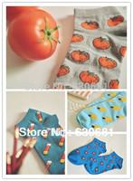 Low Cut Ankle Socks Women's Girls Socks Cute Designs Strawberry Toilet
