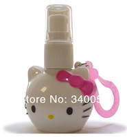 12pcs/lot Hello kitty Cosmetic Atomizer Bottle 20ml Pressure Perfume Spray Bottles Free Shipping