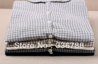 2014 Spring New Japanese Casual Double Layer Chic Lattice Female Shirt