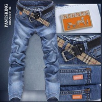 2013 trousers autumn new arrival fashion 100% cotton male straight denim trousers 3367