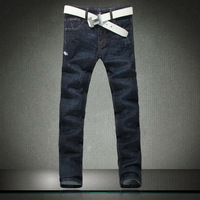 2014 quality clothing male slim straight jeans trousers male