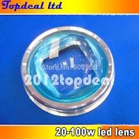 67mm LED Glass Lens +Aluminum ring+Reflector 4set series for 20w 30w 50w 60w 90w 100w 120w LED