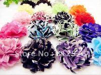 "Hair accessories 2"" Mini Petite Satin Mesh Silk Flowers Charlotte Tulle Puff Flower Head 20colors 100pcs/lot"