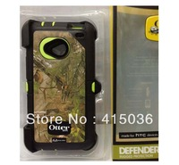 1pc free shipping protective shockproof snugle camo case for HTC One m7,w/belt clip & retail package,dropshipping