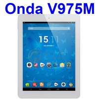 Onda V975M Bluetooth Quad Core Amlogic 2.0GHz CPU 9.7 inch IPS Retina 2048x1536 px screen 2GB 32GB HDMI tablet pc