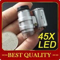 wholesale 45x mini adjustable portable microscope with LED,mini microscope