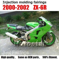 All green OEM injection parts for Kawasaki ZX-6R 2000 2001 2002 fairings 00 01 02 Ninja 636 ZX 6R ZX636 zx6r
