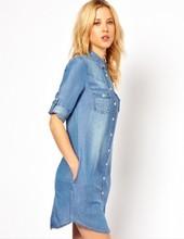 Size Denim Shirt Dress