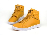 2014 promotion Spring and autumn the trend of fashion men high-top male biker boots high casual shoes
