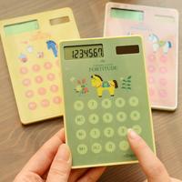 Stationery trojan touch calculator portable solar calculator